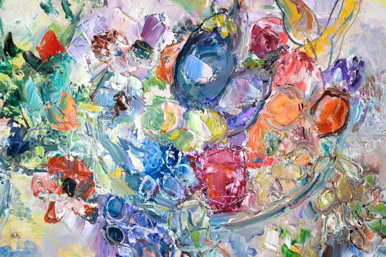 Table Still Life by Lilian Whitteker - American Impressionist Painting by Lilian Whitteker