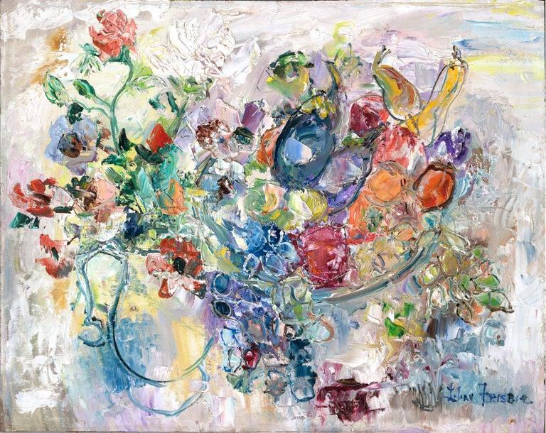 Table Still Life by Lilian Whitteker - Painting by Lilian Whitteker