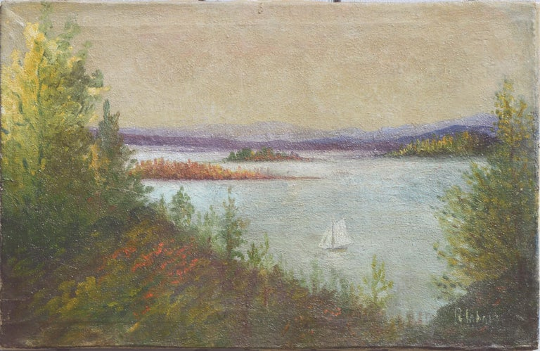 R Labarr 19th Century Hudson River School Painting