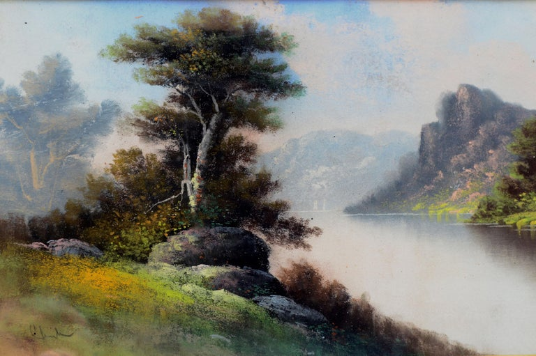 Pastel landscape circa 1915 by pastel artist William Henry Chandler (American, 1854-1928). He was a prolific and accomplished pastel artist who lived in New Jersey and worked from his studios in New York City. Signed