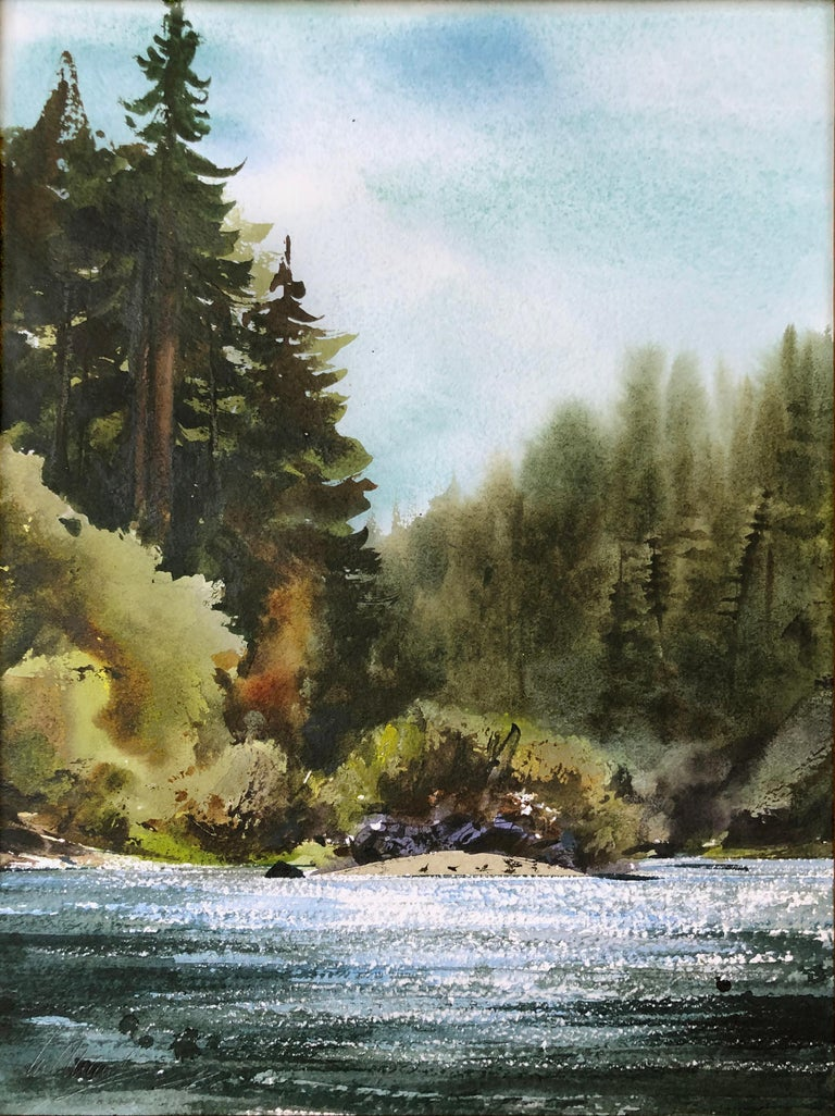 Russian River Landscape at Bohemian Grove, California 2002 - Art by William Matthews