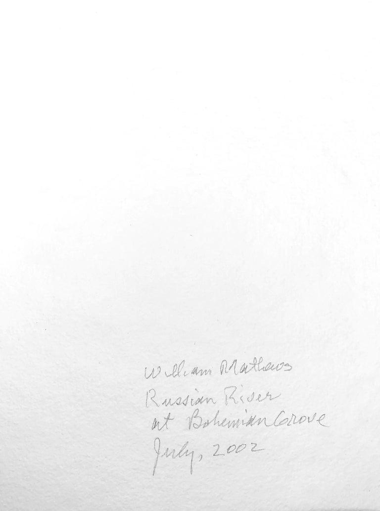 Watercolor of the Russian River at Bohemian Grove 2002 William Matthews, (American, b-1949). Image 14.5