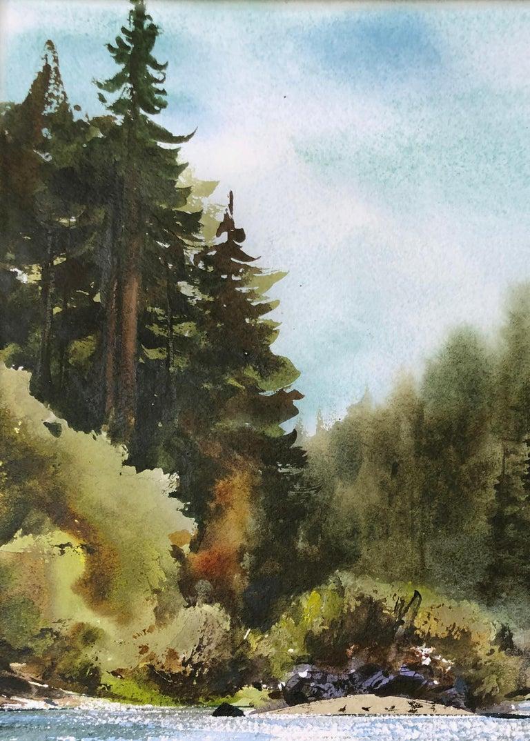 Russian River Landscape at Bohemian Grove, California 2002 - Black Landscape Art by William Matthews