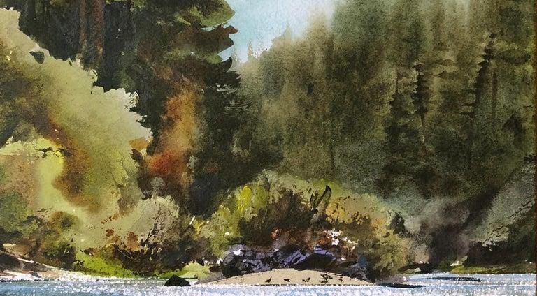 Russian River Landscape at Bohemian Grove, California 2002 - American Impressionist Art by William Matthews