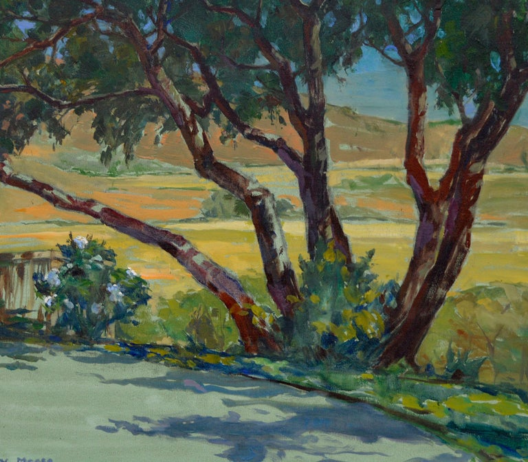 California Rural Road - American Impressionist Painting by Mary Melody Meese
