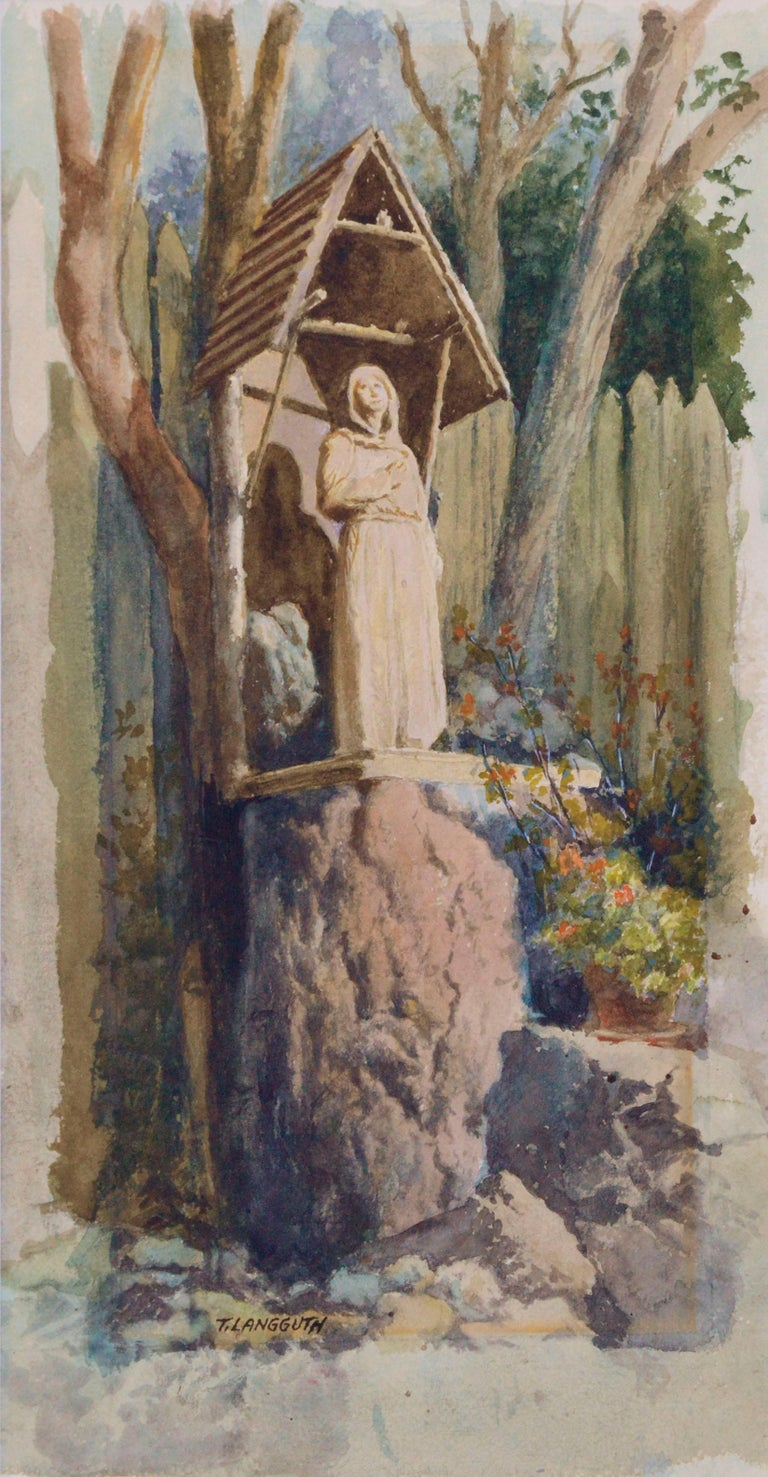 Statue of an Ascetic (The Hermit) - Art by Theodore Ernest Langguth