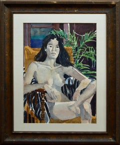 Seated Nude with Fern