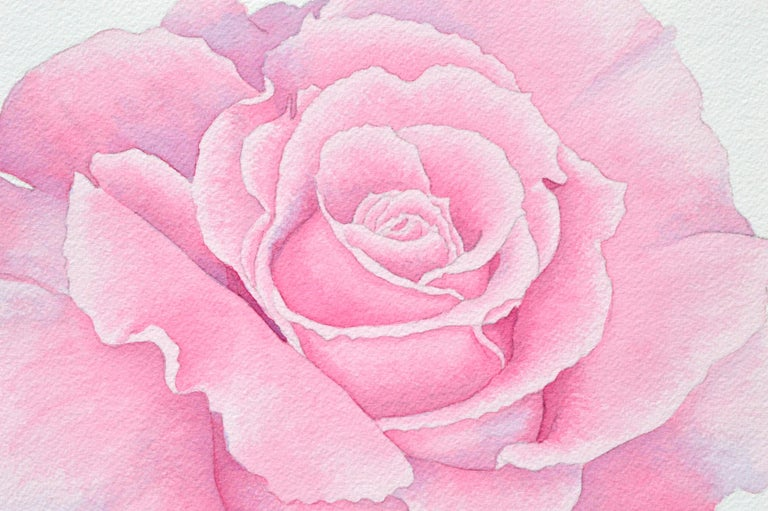 Pink Rose - Beige Still-Life by Barbara Gibson