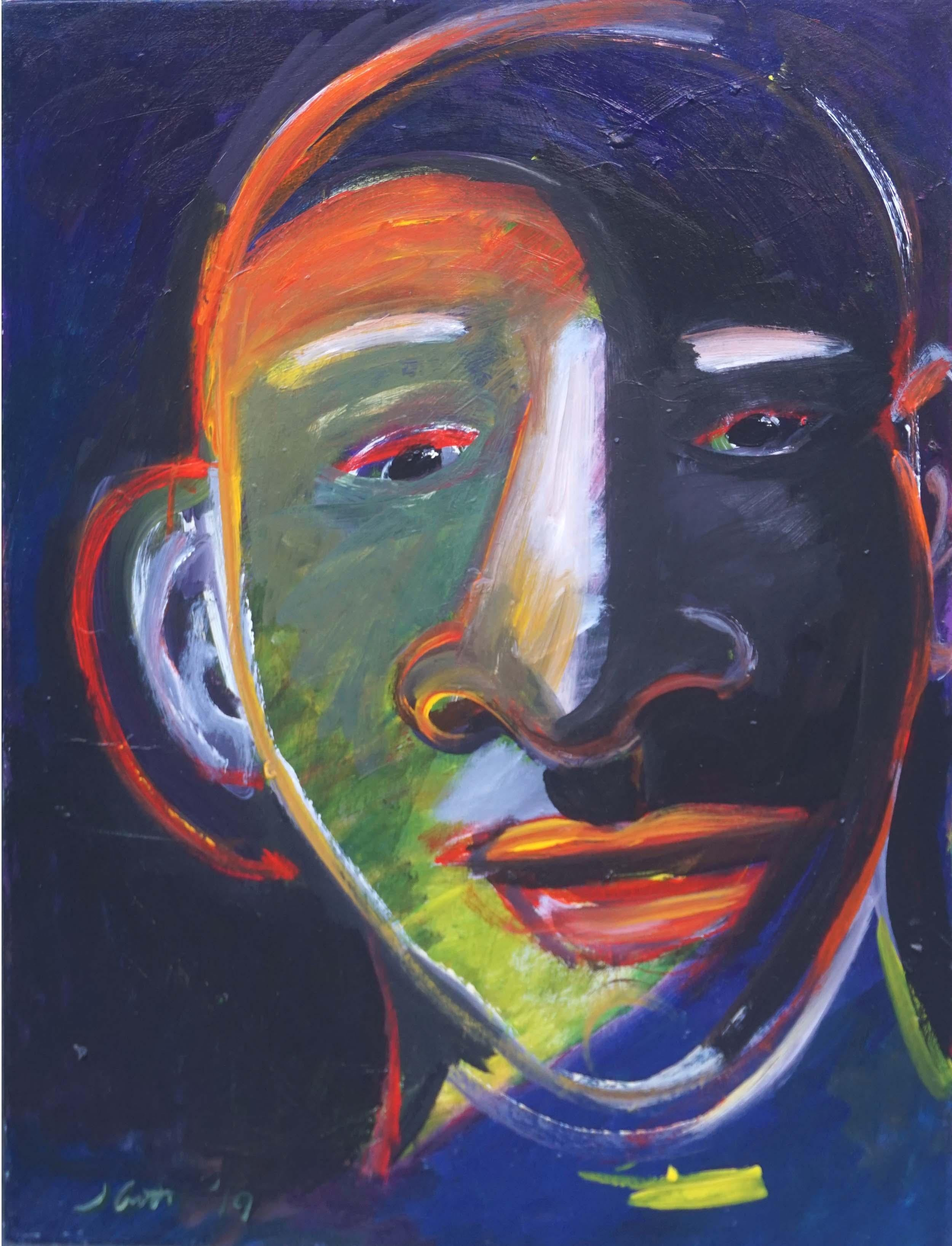 Fauvist Abstract Portrait