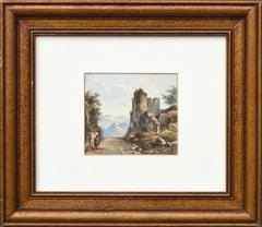 Castle Ruins Landscape John Varley jr