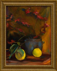 Lemon and Orchid Still Life by Maier