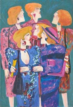 Six Elegant Women - Figurative