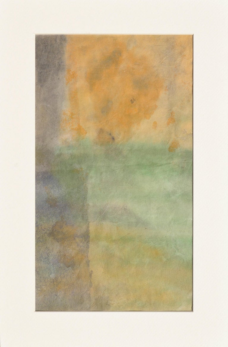 Irene Pattinson Abstract Drawing - Mid Century Abstract Vertical Sunset