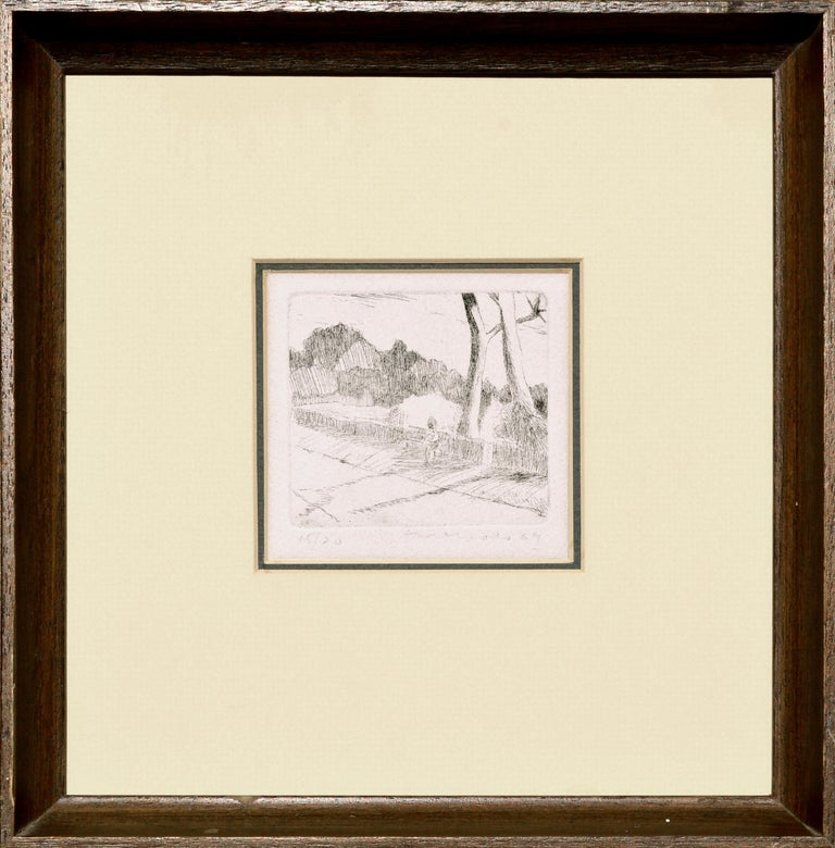 Mercado Landscape Print - Sitting on a Park Bench Lithograph