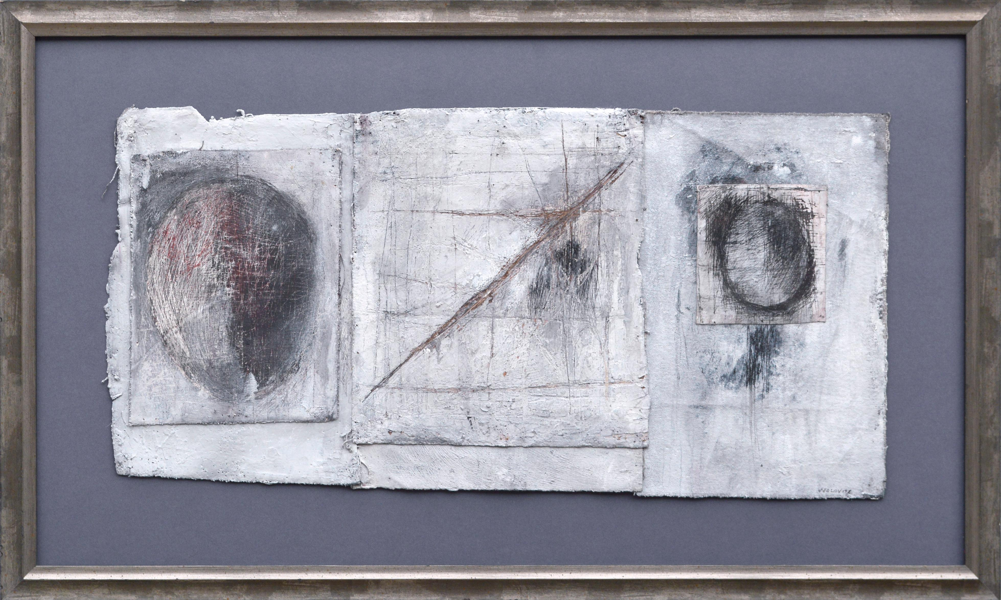 """Abstract Triptych -- """"What Came Up Through the Trees"""""""