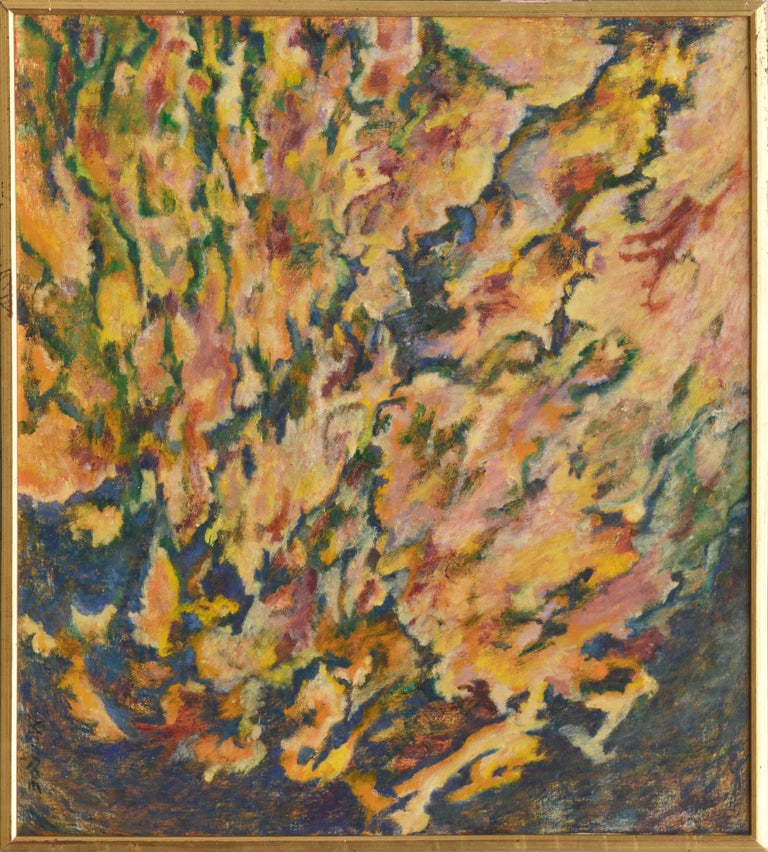 Floral Burst Abstract Expressionist by Arthur Monroe For Sale 1