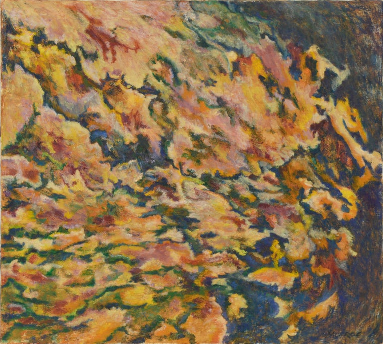 Floral Burst Abstract Expressionist by Arthur Monroe For Sale 2
