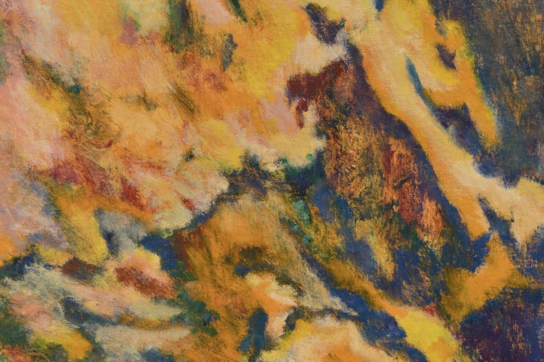 Floral Burst Abstract Expressionist by Arthur Monroe For Sale 4