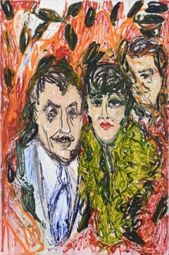 Out on the Town - Abstract Figurative Portrait of a Couple