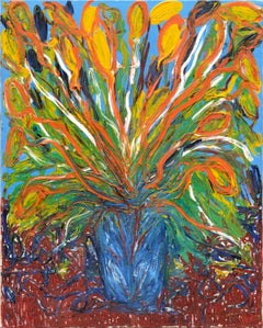 Abstract Expressionist Floral Still Life