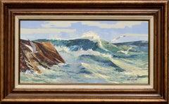 """""""Seafoam & Gulls"""" Seascape"""