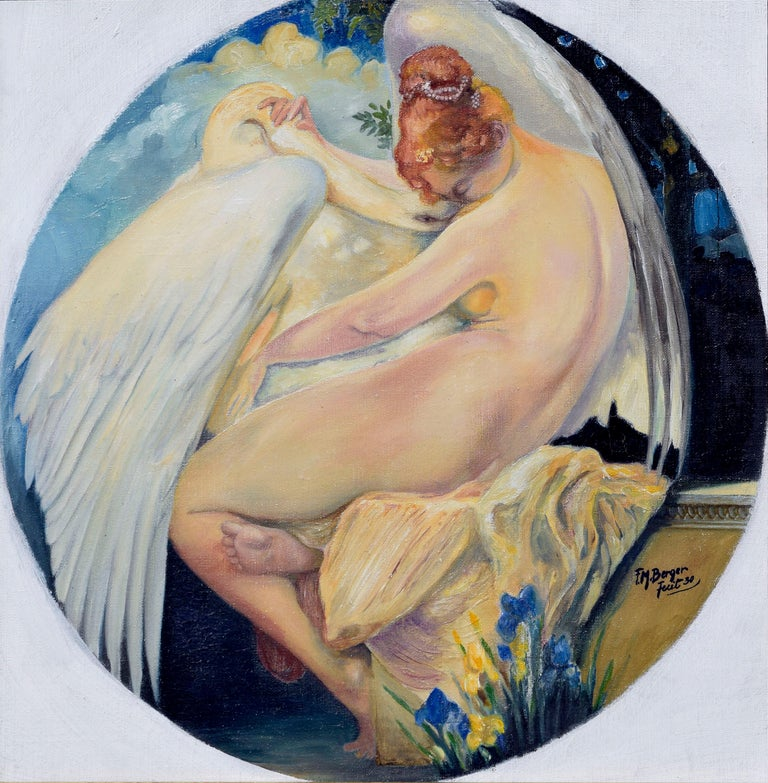 Leda and the Swan - Painting by F. M. Berger