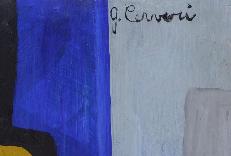 Expressionist Still Life - Brown Still-Life Painting by G. Cerveri