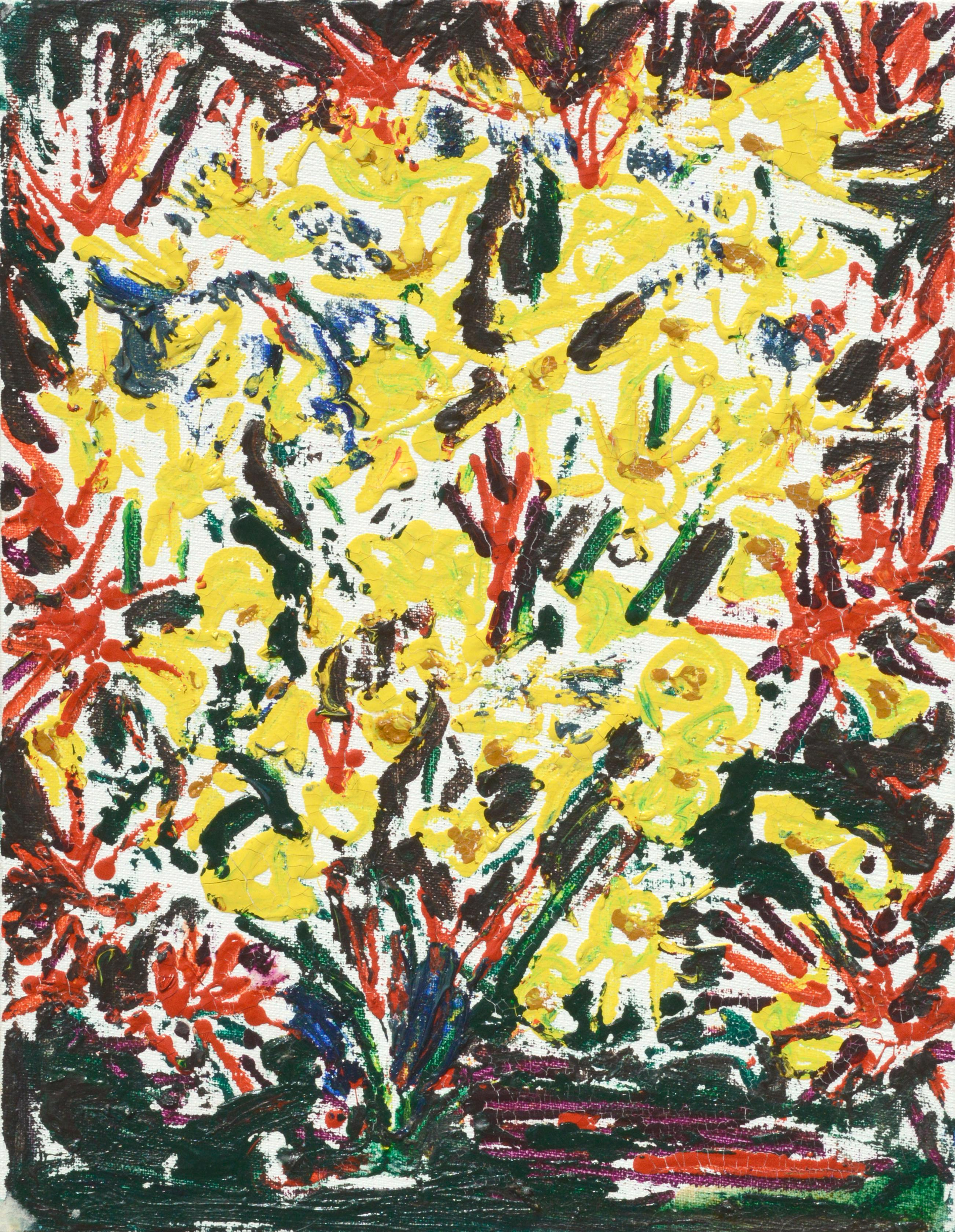 Abstract Expressionist Floral Explosion