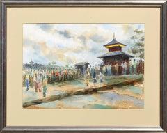 Visiting the Temple - Landscape