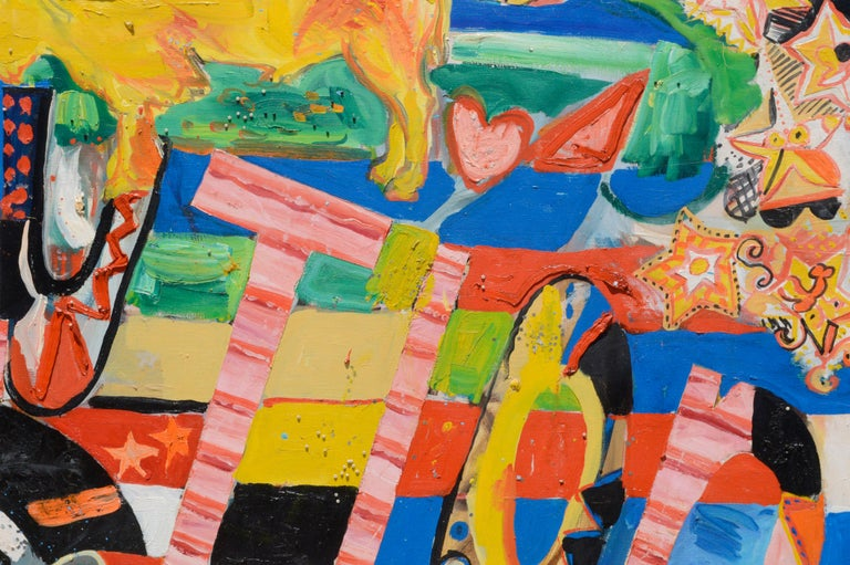 REVOLUTION, Large Scale Mixed Media Abstract Expressionist, San Francisco 1970s For Sale 3