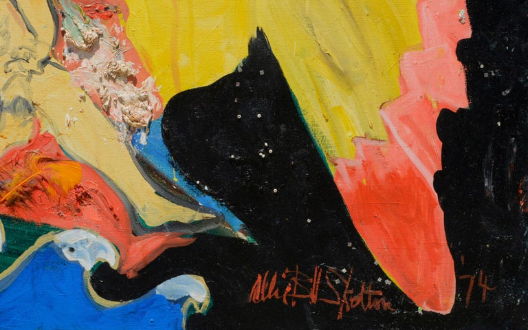 REVOLUTION, Large Scale Mixed Media Abstract Expressionist, San Francisco 1970s For Sale 4