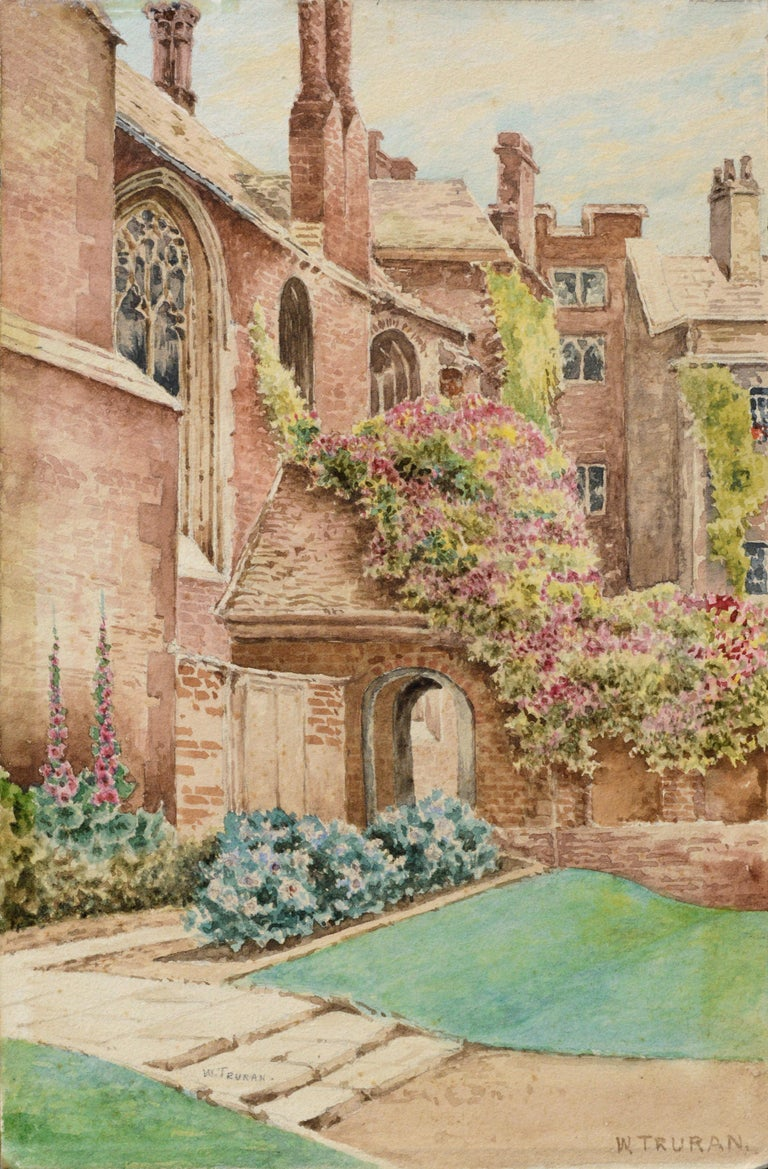 Cathedral Courtyard Architectural Landscape  - Art by William Truran