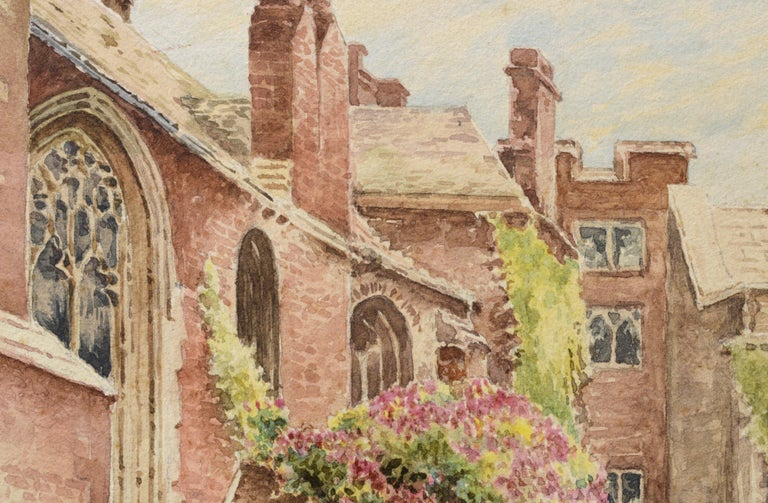 Cathedral Courtyard Architectural Landscape  - Realist Art by William Truran