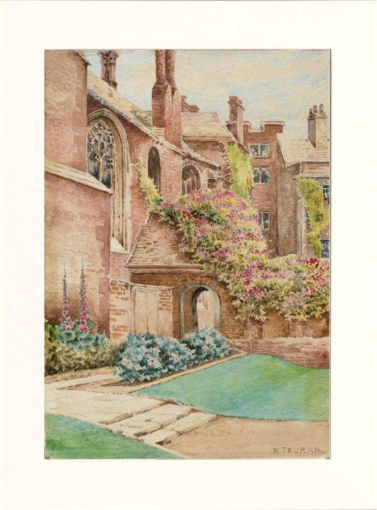 William Truran Landscape Art - Cathedral Courtyard Architectural Landscape