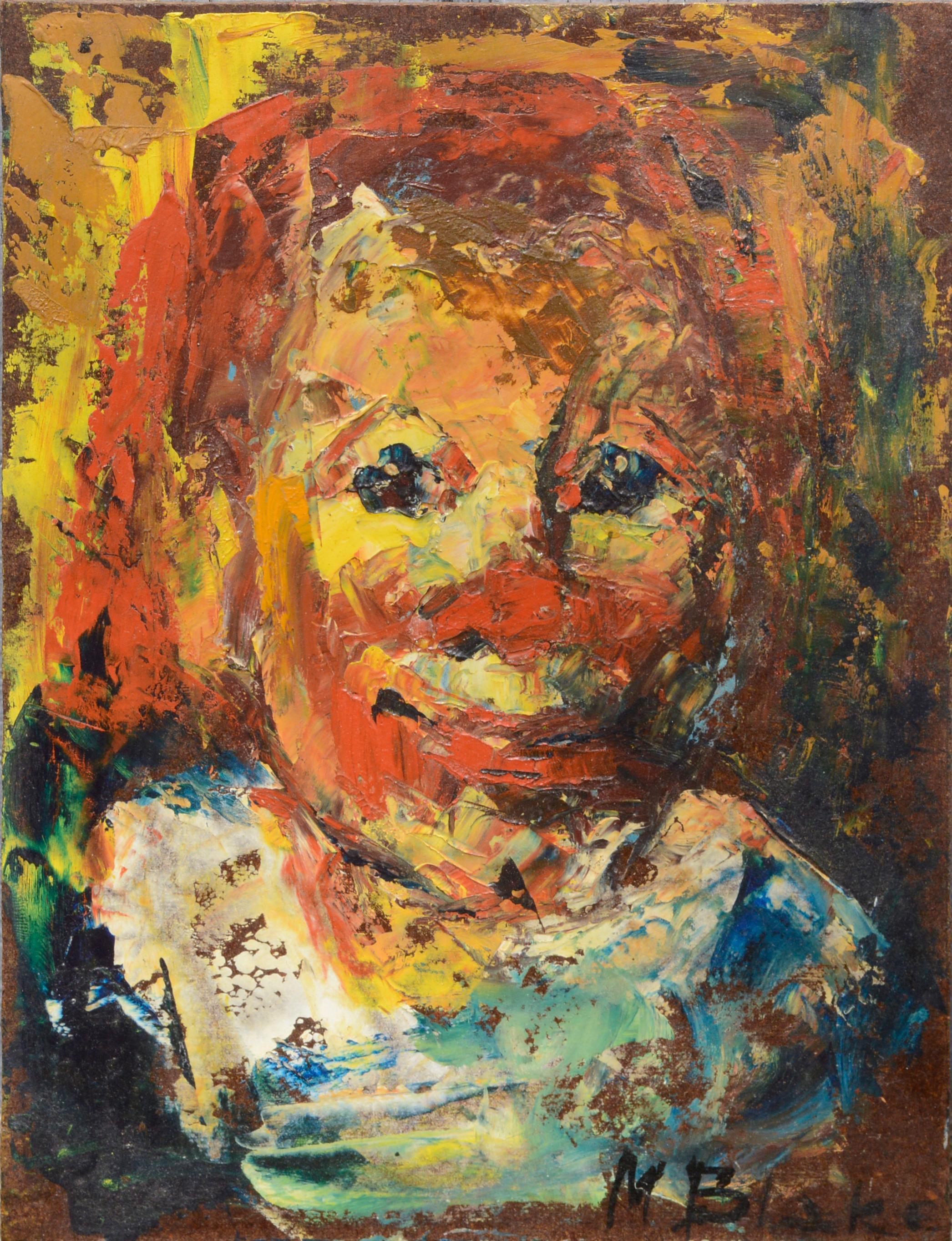 Small Expressionist Clown Portrait #2, 1960s
