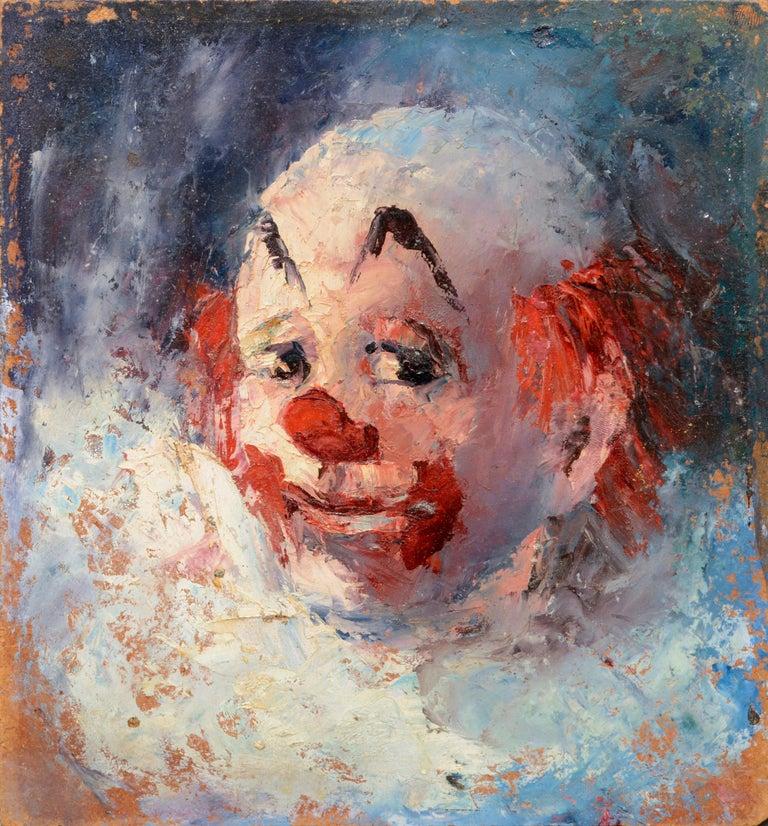 Marjorie May Blake Portrait Painting - Clown Portrait #4