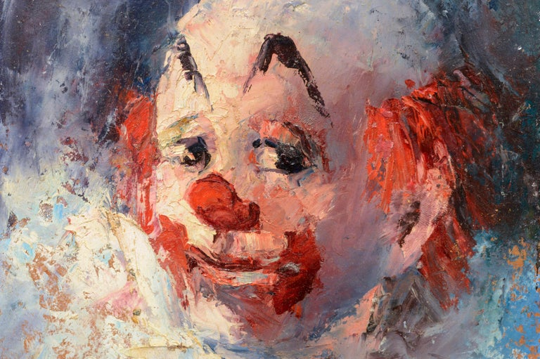 Clown Portrait #4 - Painting by Marjorie May Blake