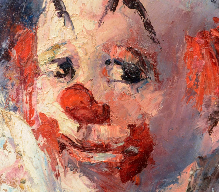 Clown Portrait #4 - American Impressionist Painting by Marjorie May Blake