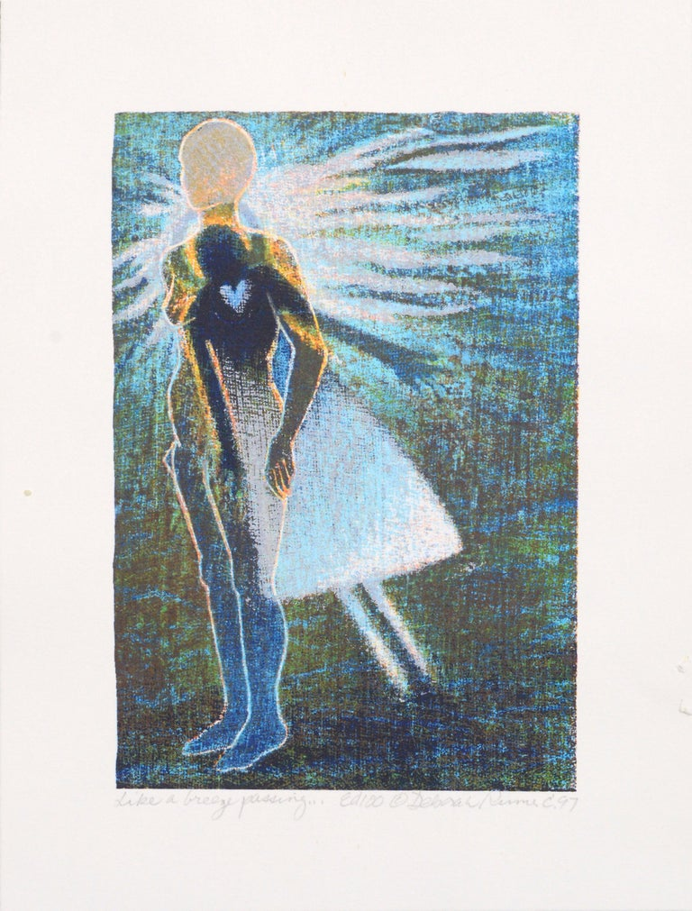 "Deborah Rumer Figurative Print - ""Like a Breeze Passing"" Print and Poem"