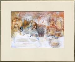 """First Snow"" Abstract Landscape by Grace Eichholz"