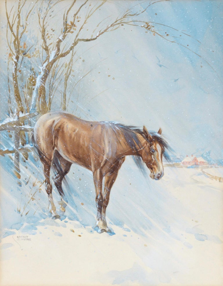 Horse in Winter - Landscape For Sale 1