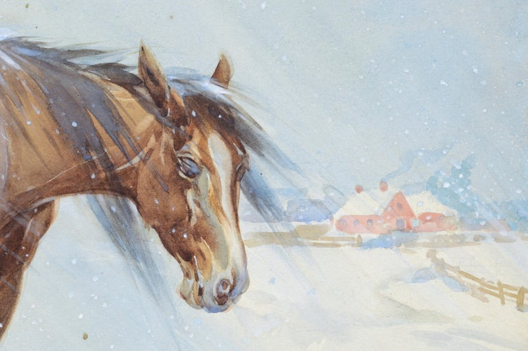 Horse in Winter - Landscape For Sale 3