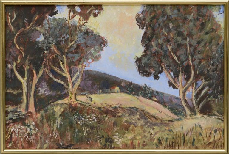 "Gayle Feller Culver Landscape Painting - ""That Place on Mill Creek"" Landscape"