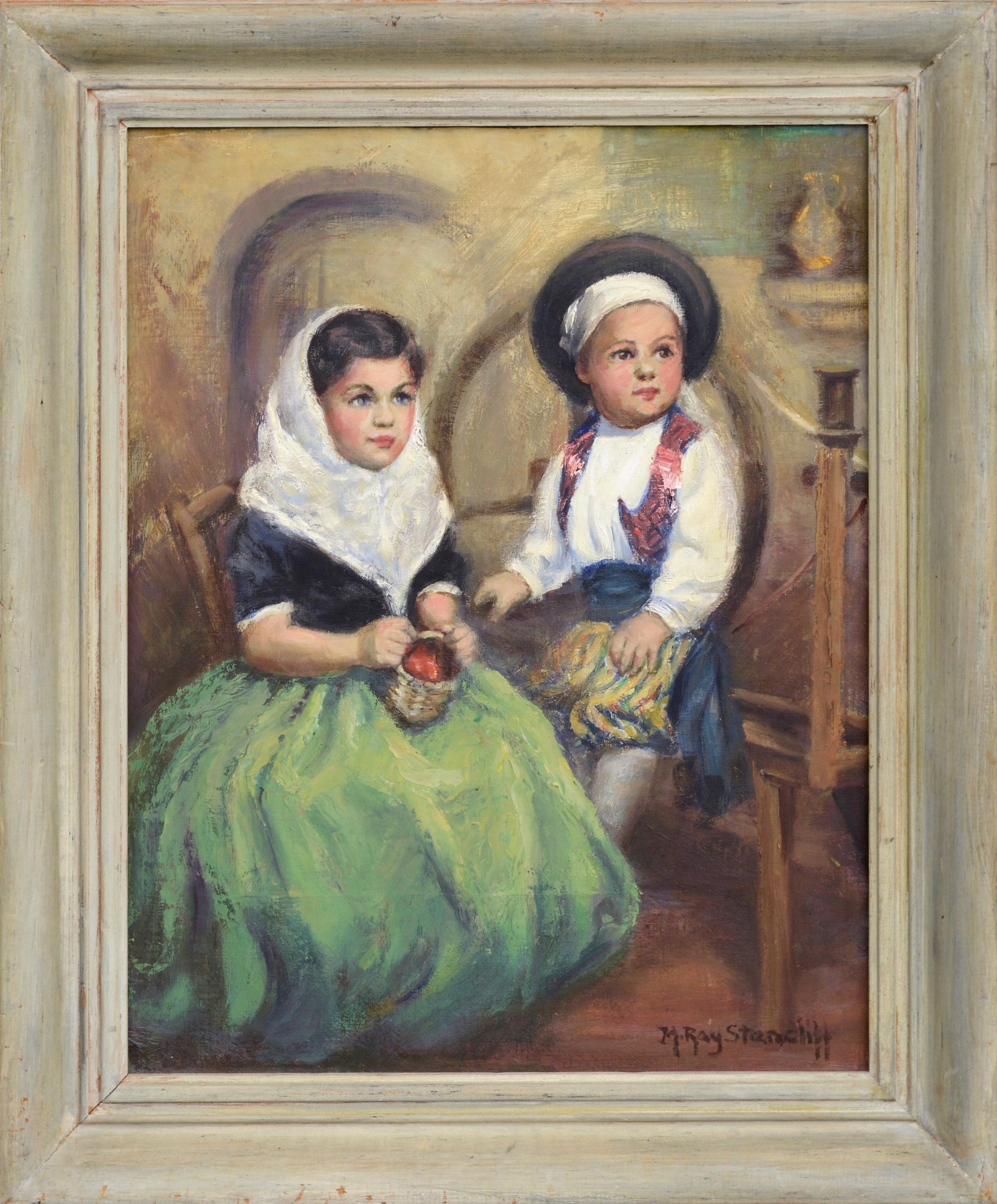 Mid Century Portrait of Two Children