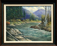 Mid Century Idaho Pack River Landscape