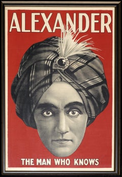 Alexander: The Man Who Knows - Original Stone Lithograph