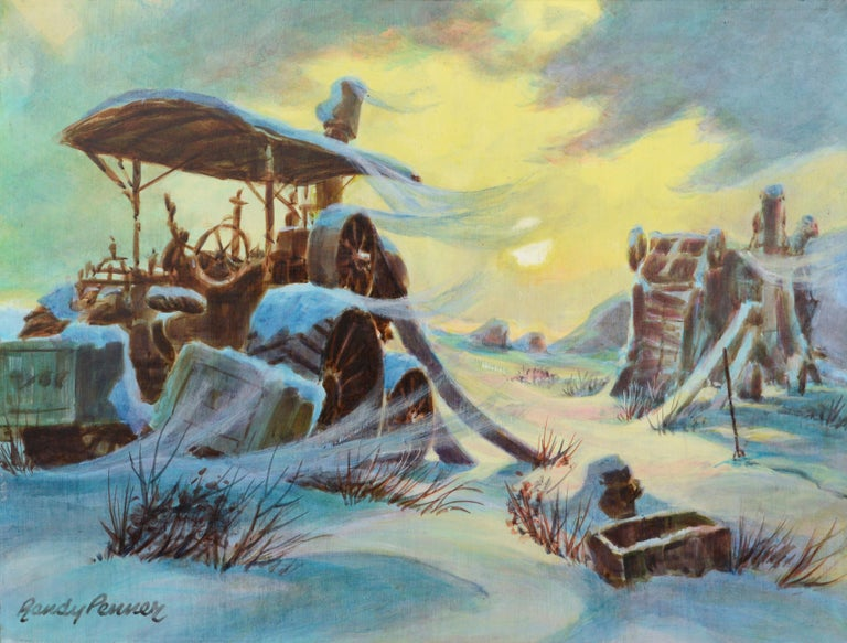 Randy Penner Landscape Painting - Harvester at the Mill in Winter - Landscape