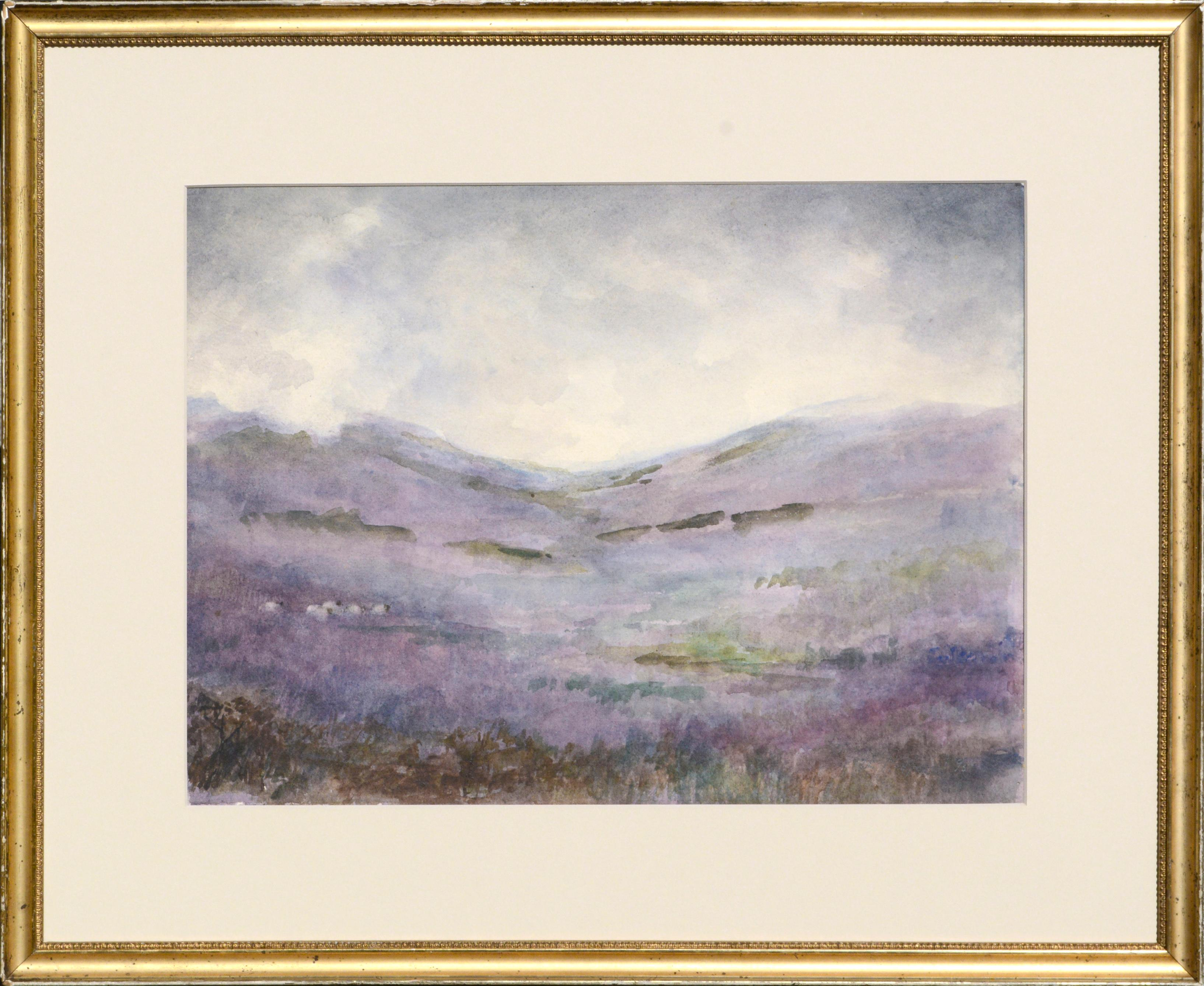 Scottish Hills Near Dunkeld - Late 19th C. Landscape
