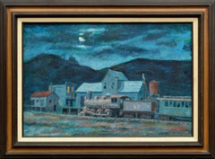 """""""Last Run to Silver City"""" - Industrial Nocturnal Landscape"""