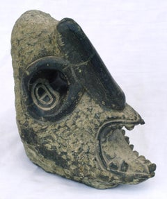 Monster Head Soapstone Scuplture